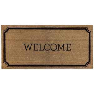 """1'10""""x3'11"""" Welcome Estate Doormat - Threshold™"""