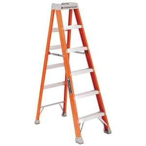 Louisville Ladder 10 foot Fiberglass Step Ladder, 14 foot Reach, 300 lbs Load Capacity, FS1510