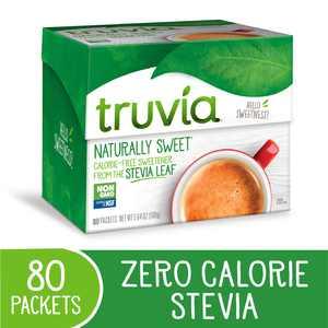 Truvia Original Stevia Sweetener Packets, 80 / Box (Quantity)