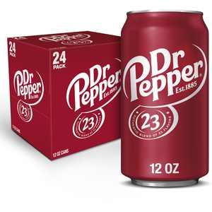 Dr Pepper Soda, 12 fl oz cans, 24 pack