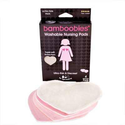 Bamboobies Regular Washable Nursing Pads- 4pk