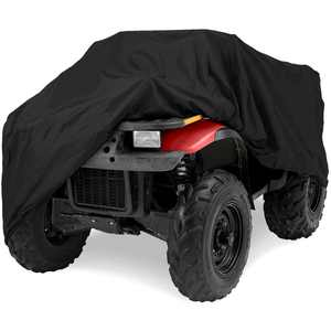 """North East Harbor Deluxe All-Weather Water Repellent ATV Cover - Universal Fits up to 86"""" Length 4-Wheeler 4X4 ATV Black 190T Cover Protects From Rain, Dust, Snow, and Sun - 86'' L x 47'' W x 39'' H"""