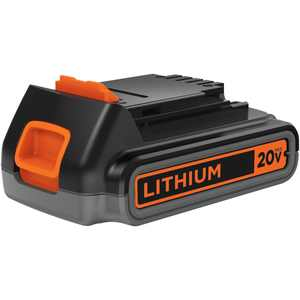 BLACK+DECKER 20-Volt MAX* 2.0 Ah Lithium-Ion Battery Pack, LBXR2020