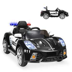 Best Choice Products 12V 2-Speed Kids Police Sports Car Ride On w/ AUX Port, Parent Control, Working Intercom