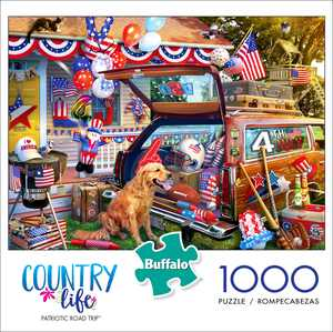 Buffalo Games - Country Life - Patriotic Road Trip - 1000 Piece Jigsaw Puzzle