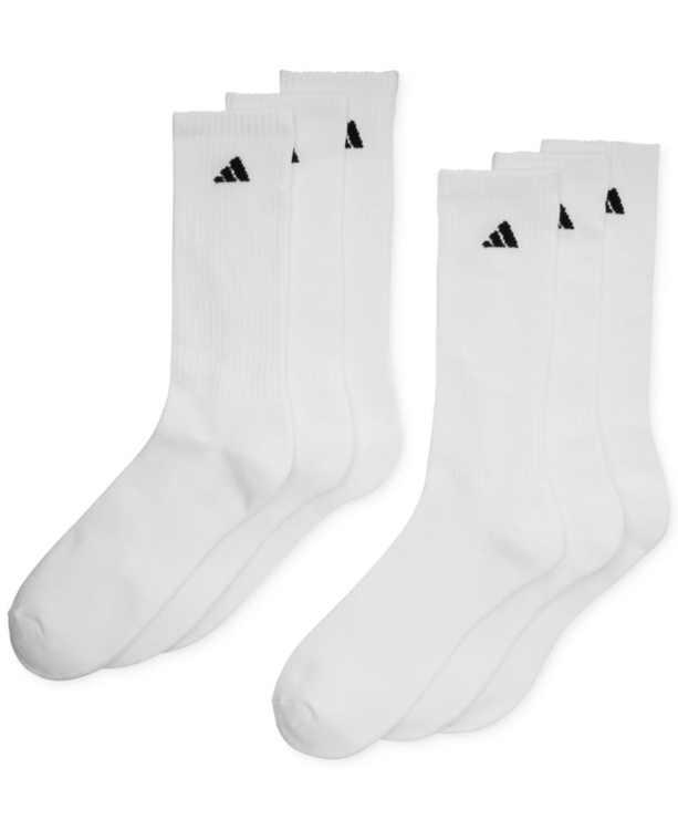 Men's Cushioned Athletic 6-Pack Crew Socks