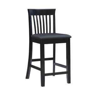 "Torino Craftsmen 24"" Counter Height Barstool Hardwood/Black - Linon"