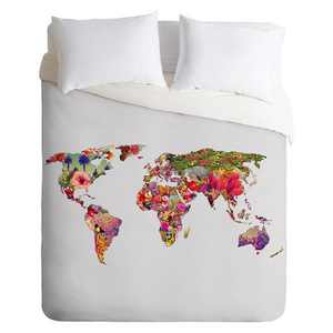 Its Your World Lightweight Duvet Cover Queen Light Gray - Deny Designs