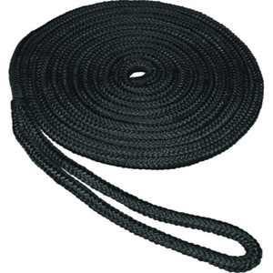 SeaSense 0.625 in x 25 ft Double Braid Dockline-Black
