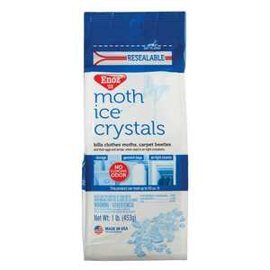 Enoz Moth Ice Crystals Moth Killer for Clothes Moths & Carpet Beetles Resealable 16 Oz