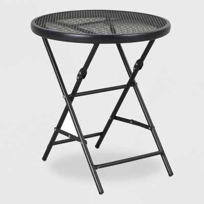 "18"" Steel Mesh Patio Folding Table - Threshold™"