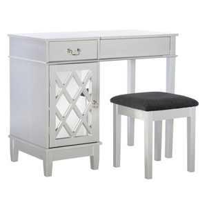 Silver Lattice Vanity Set - Linon