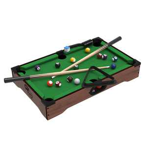 Hey! Play! Mini Tabletop Pool Set Billiards Game with Accessories