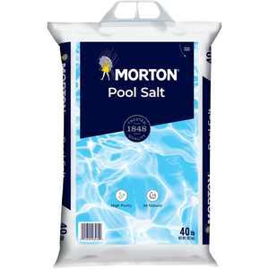 Morton Salt Pool Salt, 40 lb. Bag an All Natural, Highly Rated Pool Salt