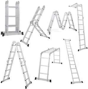 Ktaxon 12.5FT 330lb. Step Platform Foldable Scaffold Ladder