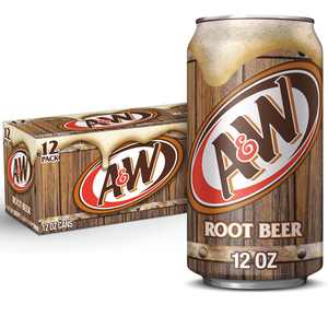A&W Root Beer Soda, 12 fl oz cans, 12 pack