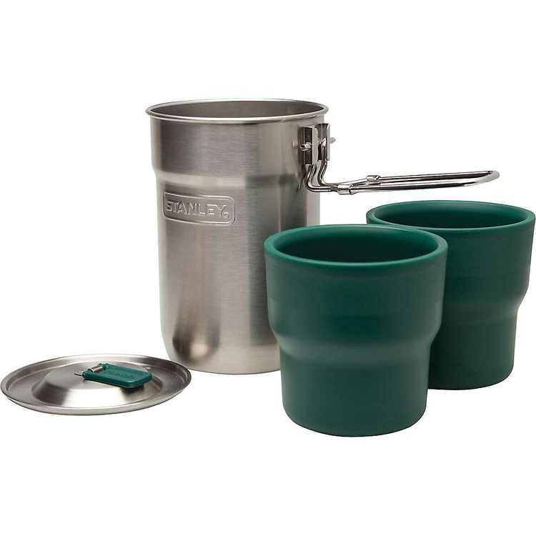 Stanley Adventure Nesting Two Cup Camp Cook Set - Stainless Steel