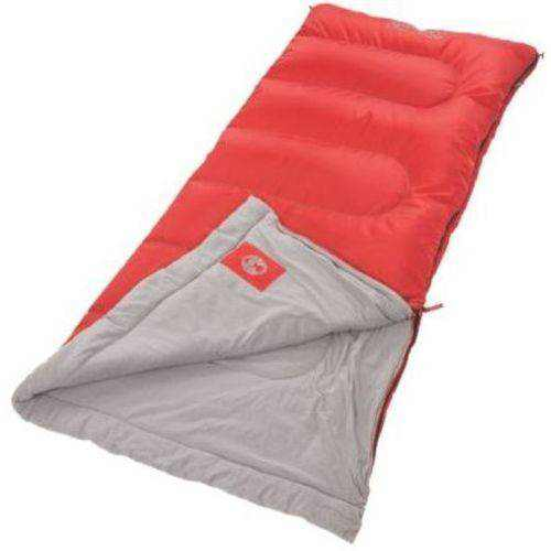 Coleman 50 F Rectangle Adult Sleeping Bag, Red