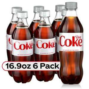 Diet Coke Soda Soft Drink, 16.9 fl oz, 6 Pack