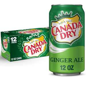 Canada Dry Ginger Ale Soda, 12 fl oz cans, 12 pack
