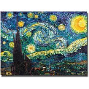 "Trademark Fine Art ""Starry Night"" Canvas Art by Vincent van Gogh"