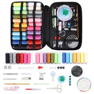 TSV Sewing Kits, 126 Pcs Sewing Supplies, Home Stitching Hand Sewing Tool for Adults, Travel, Beginners, Kids, Emergency, DIY, Sewing Machine Beginner Kit Including Professional Sewing Accessories