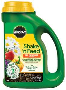Miracle-Gro Shake 'N Feed All Purpose Plant Food, 4.5 lb., Feeds up to 3 Months