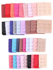 36 Pieces Women's Bra Extenders Brassiere Extension Hooks 2 Hooks and 3 Hooks (18 Colors)