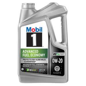 Mobil 1 Advanced Fuel Economy Full Synthetic Motor Oil 0W-20, 5 Quart