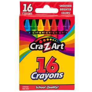 Cra-Z-Art School Quality Crayons, 16 Count