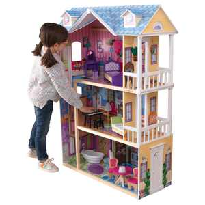 KidKraft My Dreamy Dollhouse with Lights & Sounds, Elevator and 14 Accessories