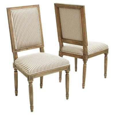 Set of 2 Madison Weathered Oak Dining Chairs Dark Coffee - Christopher Knight Home