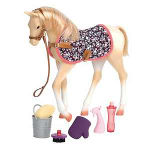 """Our Generation Palomino Horse Foal Accessory Set for 18"""" Dolls"""