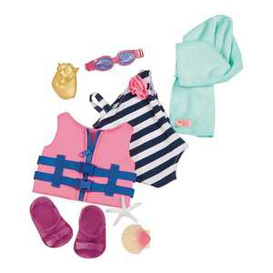 """Our Generation Fun Day Sun Day Swimsuit Outfit for 18"""" Dolls"""