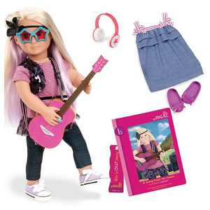 "Our Generation 18"" Posable Rock Star Doll with Storybook - Layla"