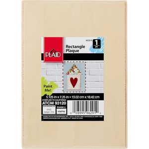 """Plaid 96291E Unpainted Wood Surface, Rectangle Plaque, 1 Piece 5"""" x 7"""""""
