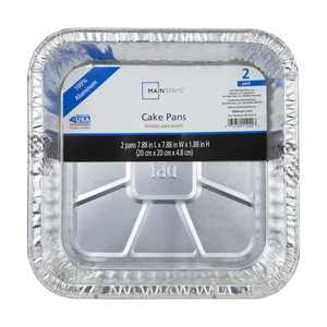 Mainstays Square Cake Pan, 2 Count