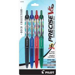 Pilot Precise V5 RT Premium Retractable Rolling Ball Pens, Extra Fine Point (0.5mm), Assorted Ink, 4 Count, 173134079