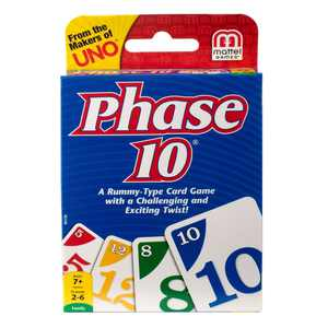 Phase 10 Challenging & Exciting Card Game for 2-6 Players Ages 7 and Up