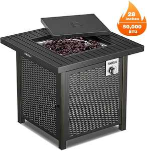 TACKLIFE Outdoor Heating, Propane Fire Pit Table, 28 inch 50,000 BTU - GFP01