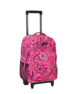 """Rockland Luggage 17"""" Rolling Backpack R01"""