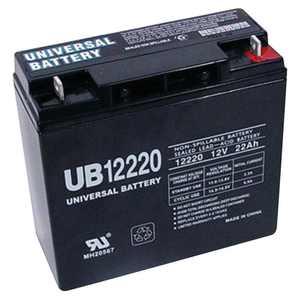 Sealed Lead-Acid Battery - AGM-type, 12V, 22 Amps, Model# UB12220