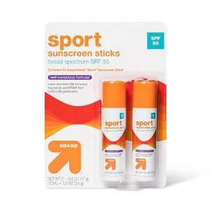Sport Sunscreen Sticks - SPF 55 - 1.2oz - up & up™