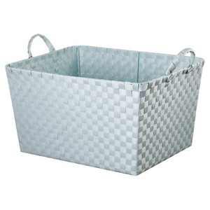 Woven Rectangle Toy Storage Bin Aqua - Pillowfort™