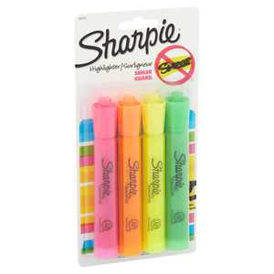 Sharpie Tank Style Highlighters Chisel Tip Assorted 4 Pack