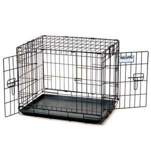 Precision Pet ProValu Indoor & Outdoor 2 Door Wire Kennel Dog Crate, Black