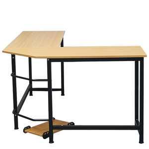 Ktaxon 90 L-Shaped Desk Corner Latop Computer PC Study Office Table Home Workstation Wood