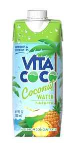 Vita Coco Coconut Water, Pineapple, 16.9 fl oz Tetra