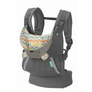 Infantino Cuddle Up Carrier - Ergonomic Bear-Themed, face-in Front Carry and Back Carry, with Removable Character Hood, for Infants and Toddlers, 12-40 lbs