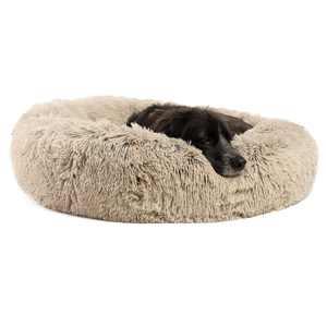 Best Friends by Sheri Original Calming Donut Shag Cuddler, 30x30 Taupe